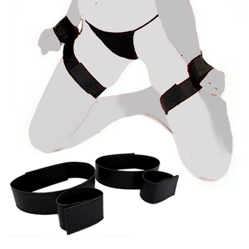 Секс SM взрослые игры БДСМ бондаж наручники до бедра регулируемые наручники до щиколотки секс флирт сексуальные игрушки для пар