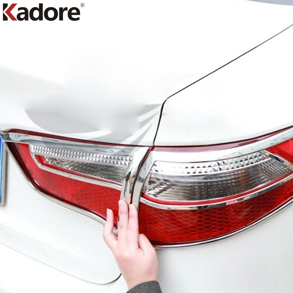 Car Accessories For KIA Rio K2 Sedan 2011 2012 2013 2014 ABS Chrome Rear Tail Light Lamp Cover Trim Taillight Shade Hood 4PCS fit for vw volkswagen tiguan 2010 2011 2012 abs chrome front rear headlight tail light lamp cover trim car accessories