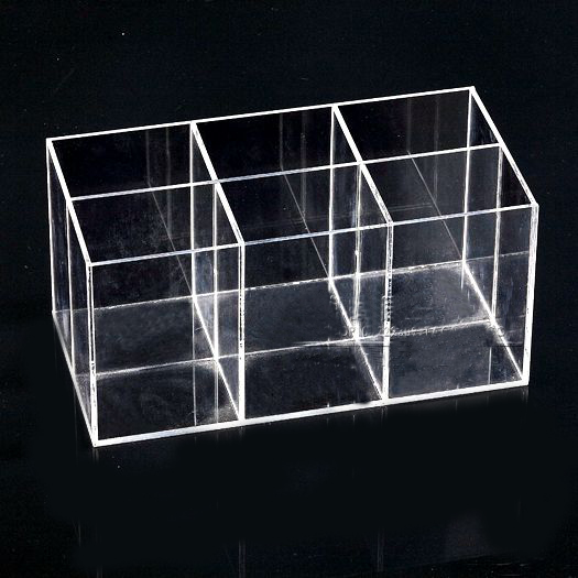 Acrylic Jewelry Display Container Box With 6 Grids цены