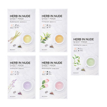 MISSHA Herb In Nude Sheet Mask 3pcs Korea Face Mask Skin Care Facial Mask Hydrating Shrink Pores Acne Treatment Whitening недорого
