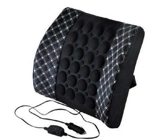 Автомобильное сиденье поясничная поддержка с DC 12 В автомобильный массаж вибрационная поясная подушка поясничная Подушка для спины облегчение боли в спине автомобильные аксессуары - Название цвета: white