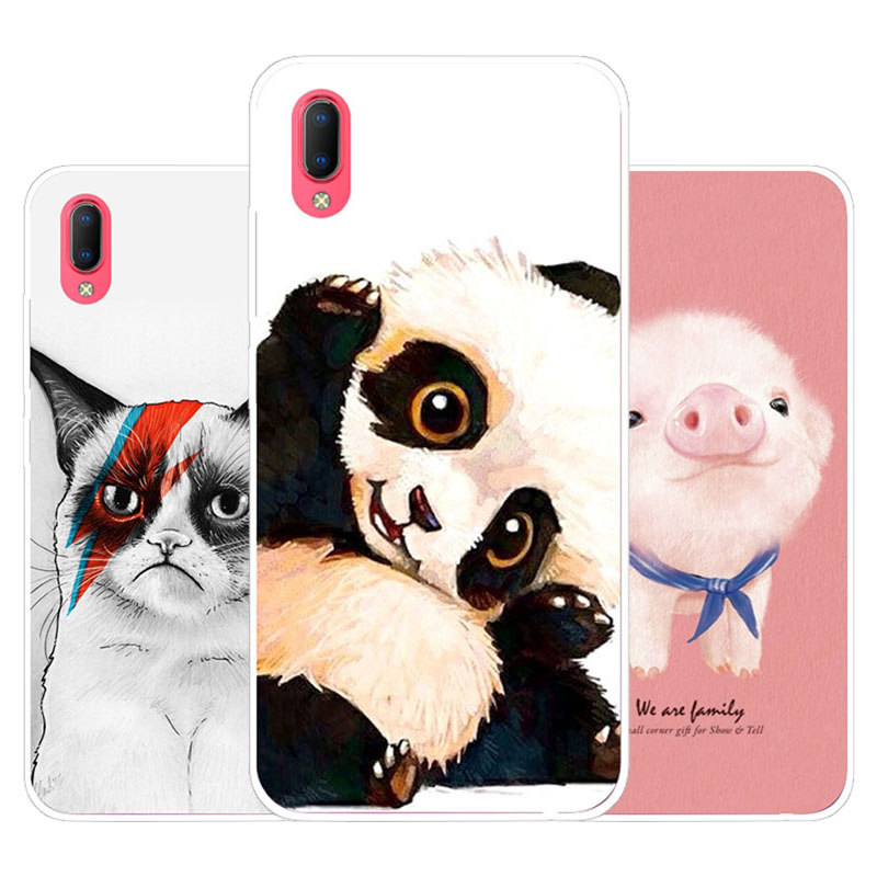 Vivo Y93S Y93 Case,Silicon panda cartoon Painting Soft TPU Back Cover for Vivo Y93S Y93 protect Phone cases