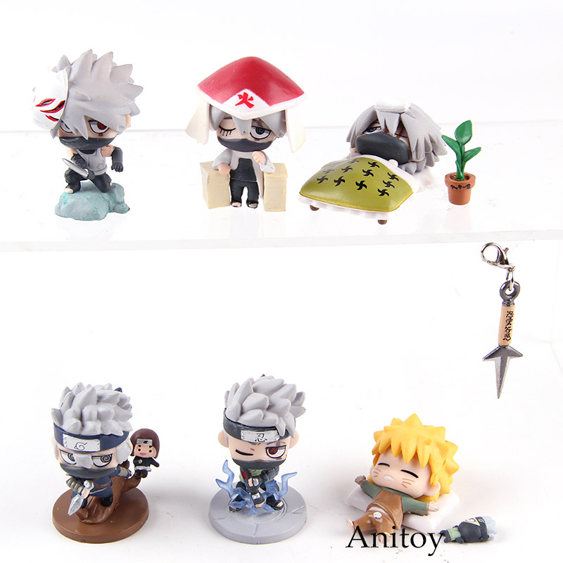 6Pcs//set Toy Naruto Shippuden Petit Chara Land The Last  Figure Figurine Gift