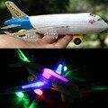 Электрический универсальный вращающийся light music Аэробус airbus электрические игрушки