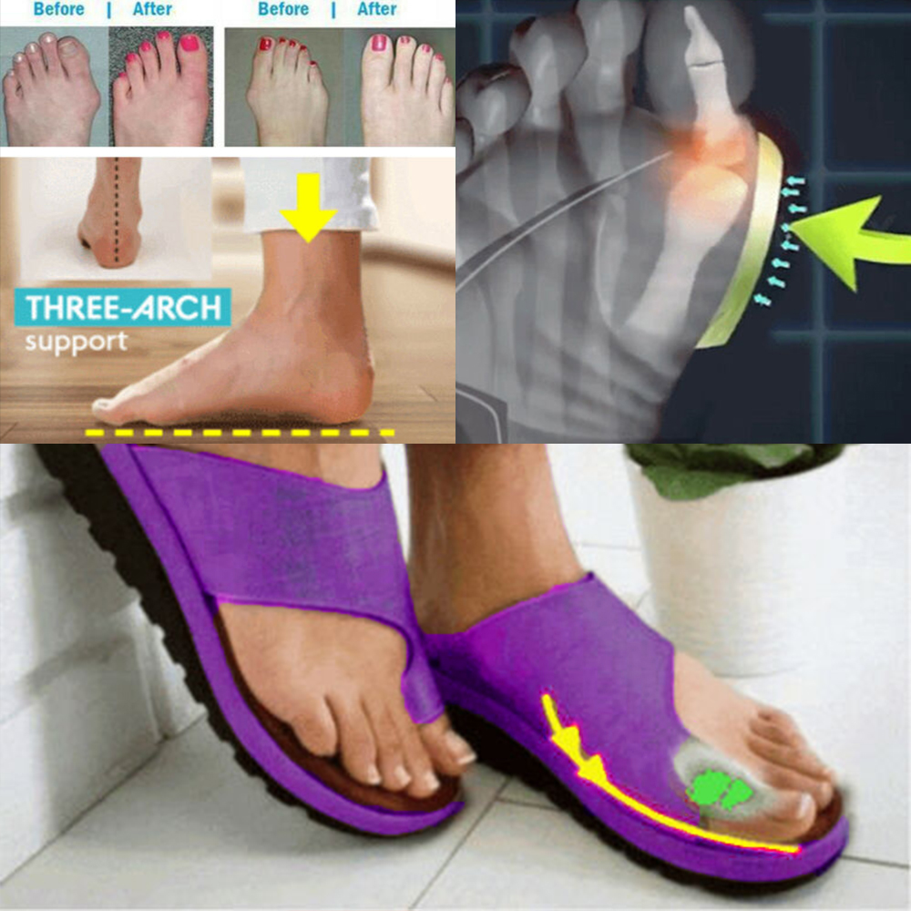 HTB1zL4zXMmH3KVjSZKzq6z2OXXa5 Puimentiua Women slippers Flat Sole Casual Soft Big Toe Foot Sandal Women Shoes Comfy Platform Orthopedic Bunion Corrector