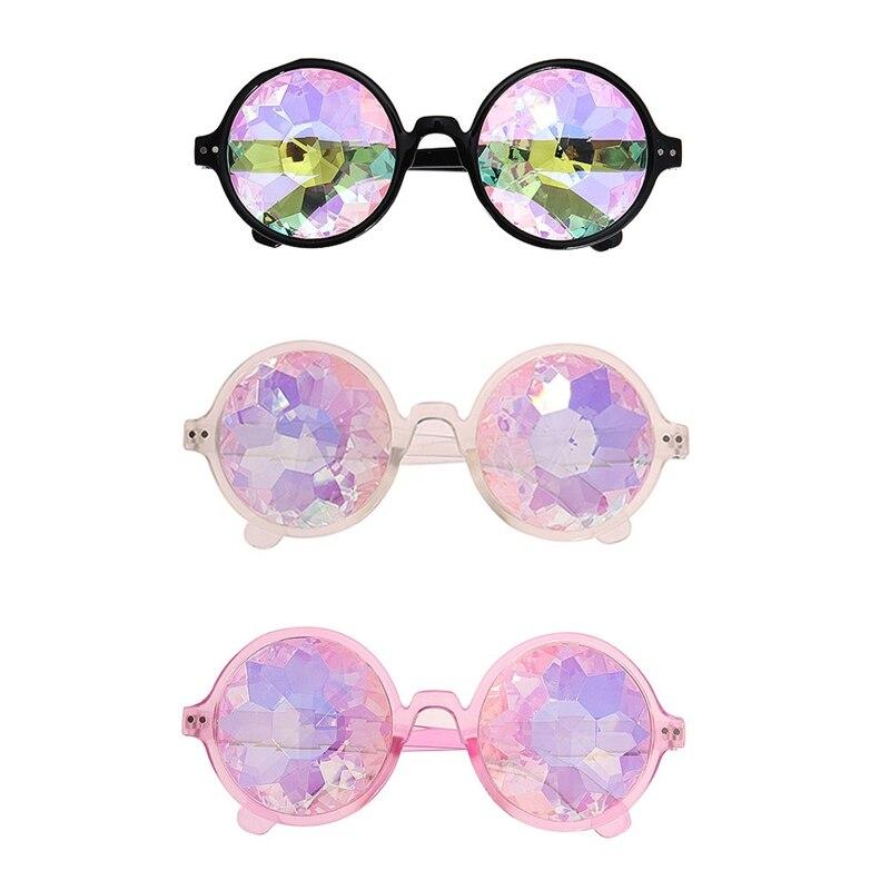 Imwete Sunglasses Women Retro Kaleidoscope Sunglasses Men Designer Kaleidoscope Glasses Cosplay goggles