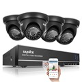 SANNCE 4CH HD 720P CCTV System 1080P HDMI DVR 4PCS 1280TVL home Security Cameras System with Email Alert