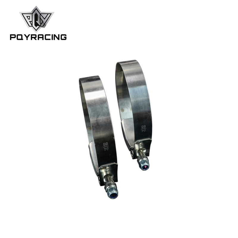 PQY - (2PC/LOT) 3.25 CLAMPS (86-94)STAINLESS 304 SILICONE TURBO HOSE COUPLER T BOLT CLAMP KIT HIGH QUALITY PQY5255
