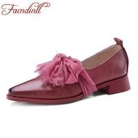FACNDINLL 2018 New Spring Summer Square Toe Low Heel Pumps Black Red 2cm Thick Heel Genuine