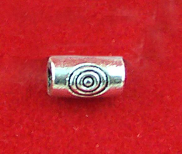 DoreenBeads Retail 360PCs Tibetan Silver Carved Target Tube Spacers Beads