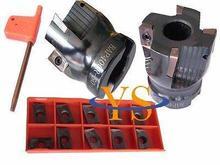 1pcs 4Flute BAP400R -50MM-22 Face End Mill & Set 10pcs APMT1604 Carbide inserts  CNC milling