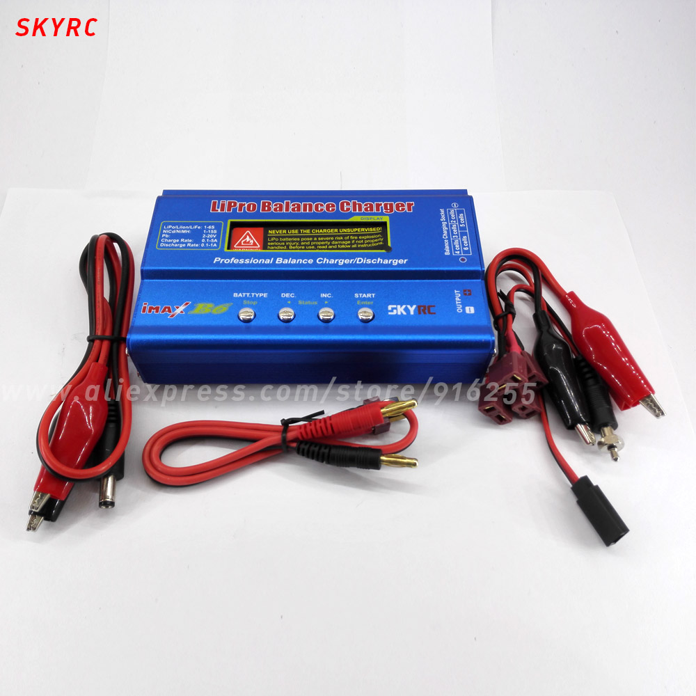 SKYRC rc balance lipo charger quadcopter IMAX B6 rapid discharger for lipo life lilon battery car 1s 2s 3s 4s 5s 6s 7s 8s lipo battery balance connector for rc model battery esc
