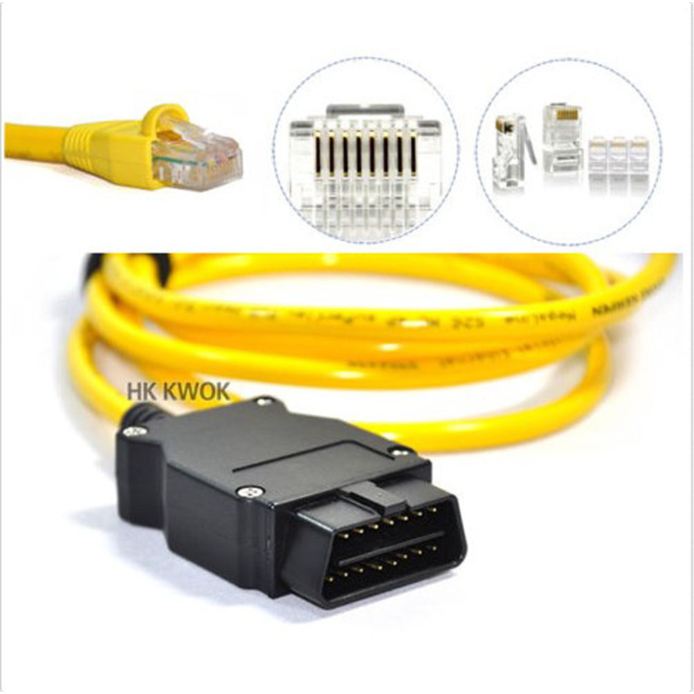цена NEW Ethernet to OBD For BMW F Series ENET Cable E-SYS ICOM 2 Coding Without CD ESYS ICOM Coding Diagnostic Tool Free Shipping