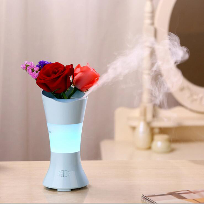 GRTCO Vase Essential Oil Aroma Diffuser Night Light Ultrasonic Air Humidifiers Mist Maker Desk Air Purifier For Home & Office