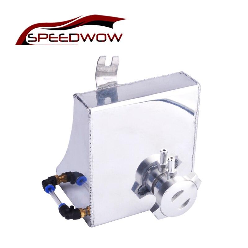 SPEEDWOW Sliver Universal Car Auto Oil Catch Tank Aluminum Motor Racing Reservoir Can oil Filtration tank without Sensor все цены