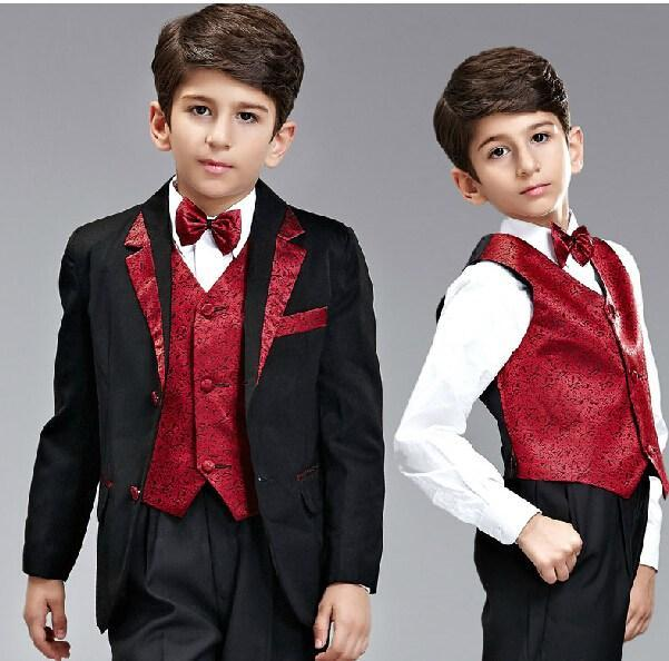 c678b0135 HY Boy`s suit Kids Complete Designer suit tuxedo Boys Formal Occasion wear  in stock (suit+pants+jacket+bow+tie) New Arrival