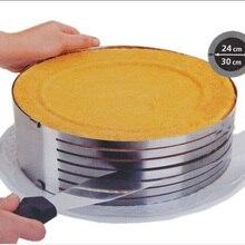Faltbare kuchen Scheibe gerät kuchen dekoration DIY backenwerkzeuge ohne messer