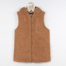 Women 2018 Warm Fleece Vests Open Stitch Jackets Winter Hooded Waistcoats Ladies Casual Sleeveless Faux Fur Coats Spring Autumn(China)
