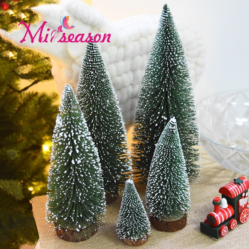 Miniature Artificial Christmas Trees: Miiseason 5 PCS Mini Artificial Christmas Tree Xmas Trees