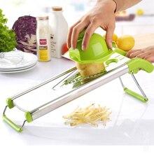 Многофункциональный 304 кухонный измельчитель из нержавеющей стали устройство для измельчения картофеля Терка огурец слайсер устройство для измельчения зеленый