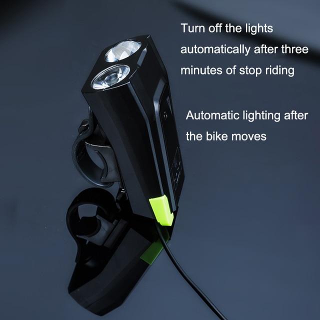Livraison directe 800LM LED vélo/vélo/ensemble de lumière phare avant/lampe de poche lampe de cyclisme usb Rechargeable feu arrière avec cloche
