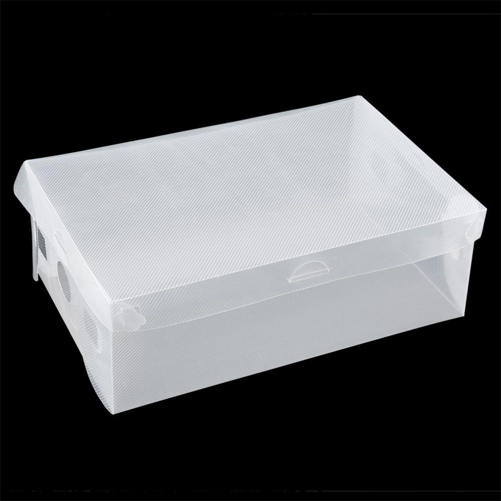 1 pcs stackable storage box thick boot shoe organizer. Black Bedroom Furniture Sets. Home Design Ideas