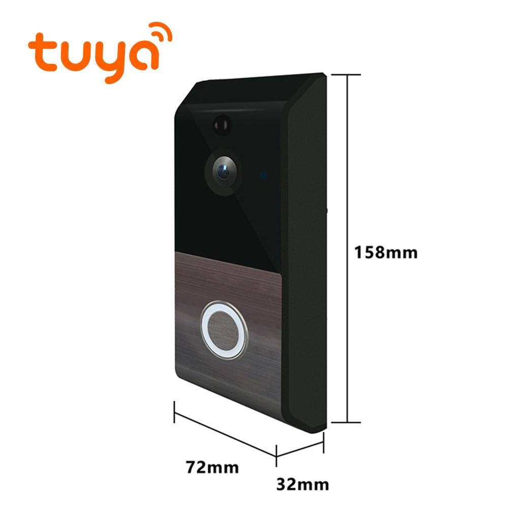 Купить с кэшбэком Tuya Supported Digital Video Calling Bell Smart Home Surveillance Wireless Door Camera Wifi Intercom Security System