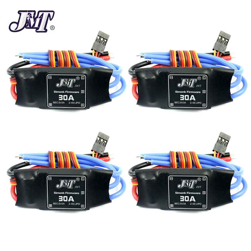 <font><b>JMT</b></font> 4Pcs <font><b>30A</b></font> Speed Controller Brushless <font><b>ESC</b></font> For DIY FPV RC Quadcopter F450 Multi-Rotor Aircraft Helicopter Drone Accessory image