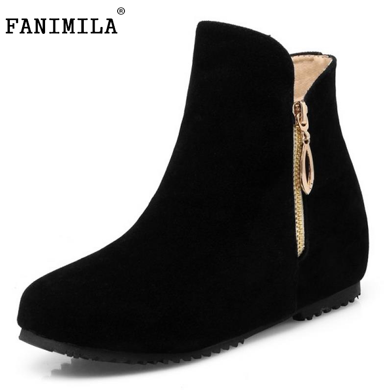 FANIMILA Autumn Winter British Retro Women Shoes Platform Square Heel Ankle Boot Solid Leather Fashion Motorcycle Boot Size32-43 vinlle women boot square low heel pu leather rivets zipper solid ankle boots western style round lady motorcycle boot size 34 43
