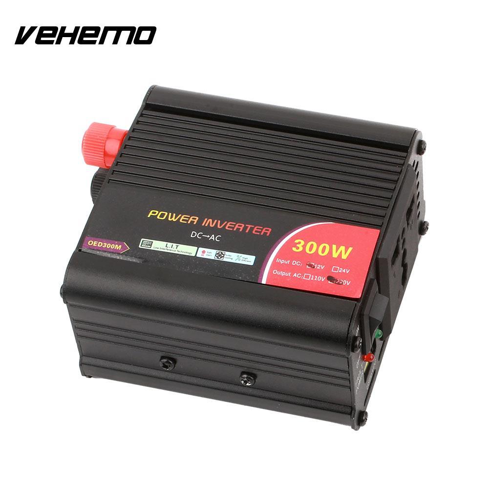 Vehemo Wechselrichter Auto Inteverter Adapter DC12V Zu AC220V Aluminiumlegierung Hohe Leistung Automobil Außen Ladegerät