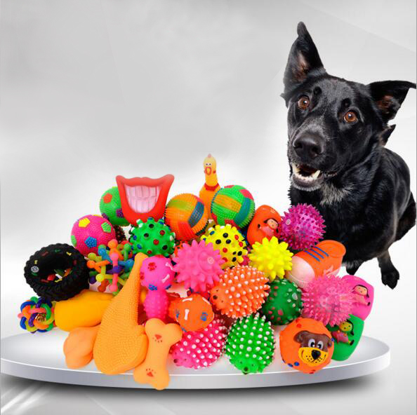 Dog Supplies Pet Dog Toy Puppy Cat Vinyl Ball Dog Squeaky Toy Quack Chew Sound Play Fetching Funny Training