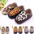 Leopardo de la manera Zapatos de Bebé Guapo PU Niño Zapatos de Prewalker//