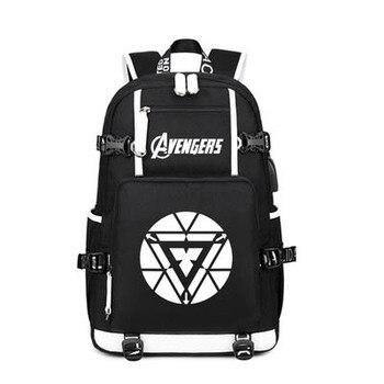 Avengers 4 Endgame Backpack Anime S.H.I.E.L.D. Captain America Avengers: Endgame Cosplay Nylon School Bag Travel Bags фото