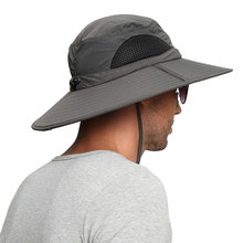 High quality UPF 50+ Summer Wide Brim Bucket Hat Waterproof Breathable Packable