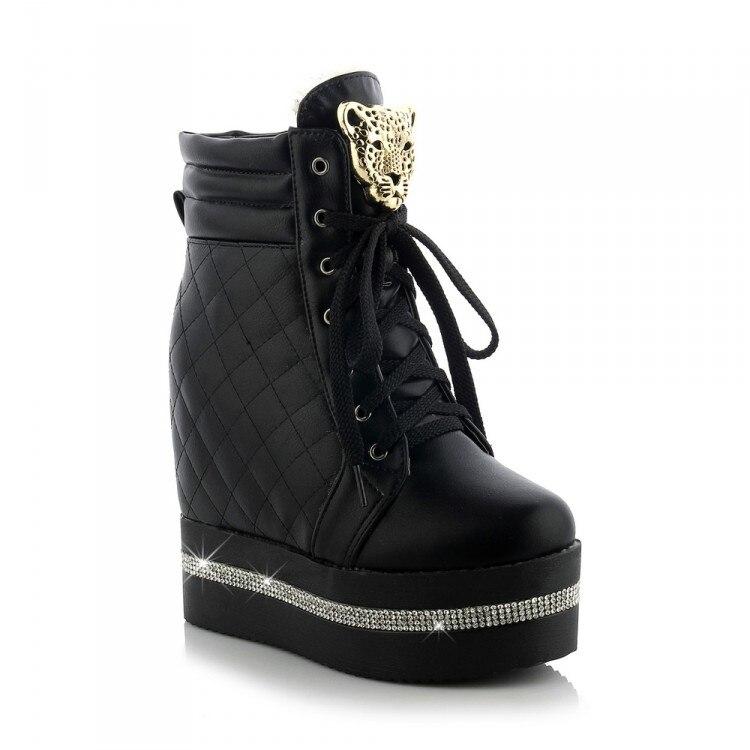 325f5d3ed10312 ... femmes hiver automne dentelle up chaussures de mode bottes courtes haute  talons moto