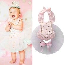 0-24M Newborn Baby Girl Clothes Little Princess Girls Lace Romper Bodysuit Tutu Skirt 2PCS Outfits Bebes Sunsuit Clothing Set