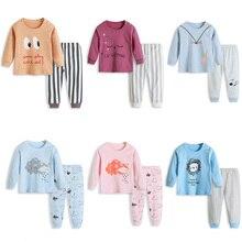 Autumn Kids Boys Pajamas Set Baby Girl Clothes Cotton Cartoon Sleepwear Children Nightwear Clothes Full Sleeve Pijamas Infantil