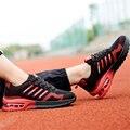 Новый 2017 Мужчины Fly линия Чистая ткань Воздушной подушке амортизации мода superstar Случайные Ходьбы обувь chaussure homme zapatos hombre