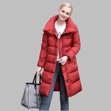 Winter Women Coat 2017 New Casual Down Jacket Medium-length Slim Korean Fashion Cotton Coat Large size Thick Warm Coat AB155