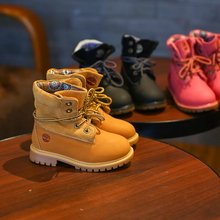 kids light christmas shoes boy red baby boots girls shoes genuine Leather high top martin boots kids girls boots baby girl shoes