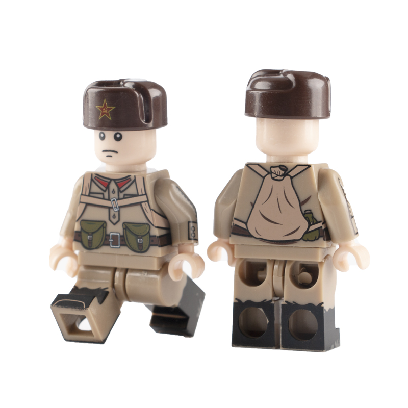 WW2 Military Army Soviet Soldiers Figures Building Blocks World War II Russia Weapon Parts Accessories Bricks Toys For Children(China)
