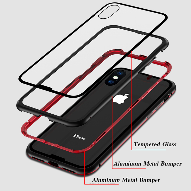 Magneto-Upgrade-Magnetic-Adsorption-case-for-iphone-X-iphone-7-8-plus-case-Dual-color-luxury (3)