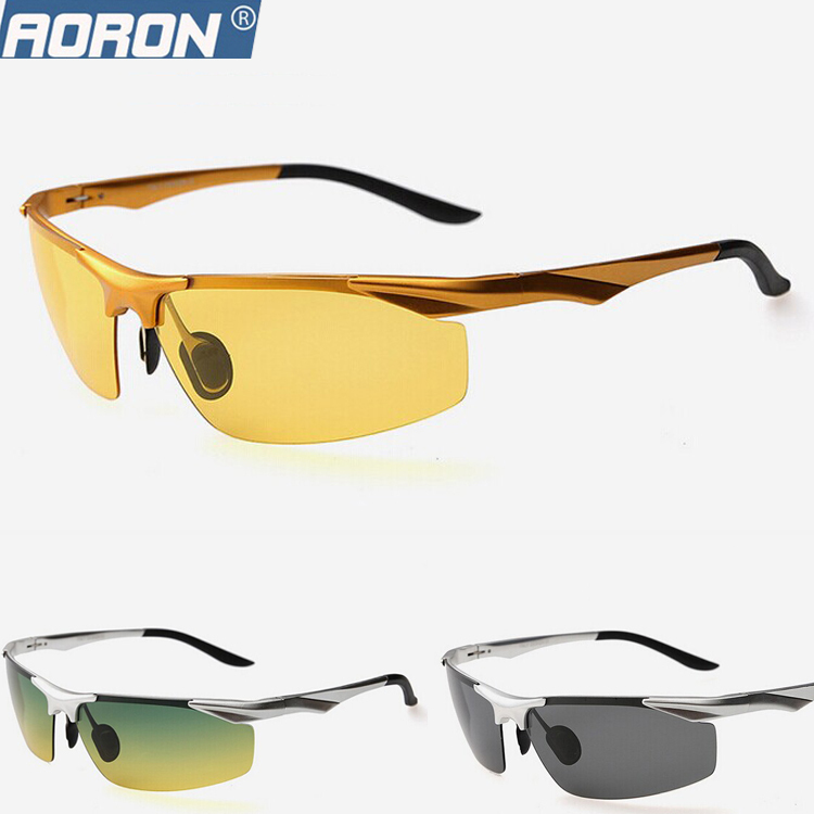 bf92ed60dd2f Men's Polarized Sunglasses Aluminum Magnesium Yellow Night Vision Goggle  Driver Sunglass Outdoor Sports Glasses For Men Driving-in Sunglasses from  Men's ...