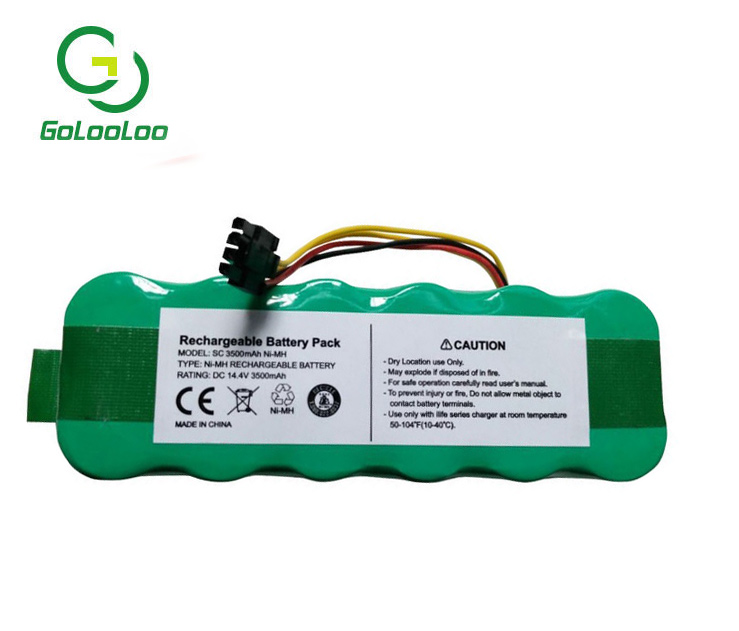 14.4V 3500mAh Cleaner Battery for Ecovacs Mirror CR120 batteria NI-MH Rechargeable for Dibea panda X500 X580 kk8 battery