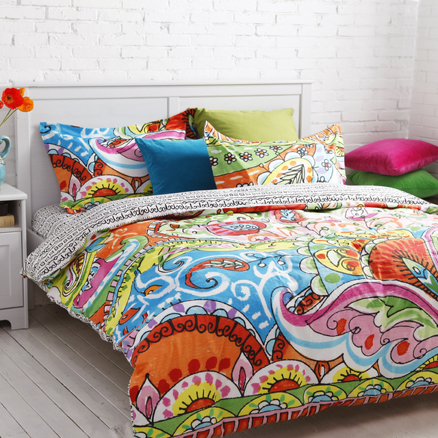 Unique Barcelona Bed Set Colorful Flower Baby S Bedding Damask Strip Duvet Cover Queen