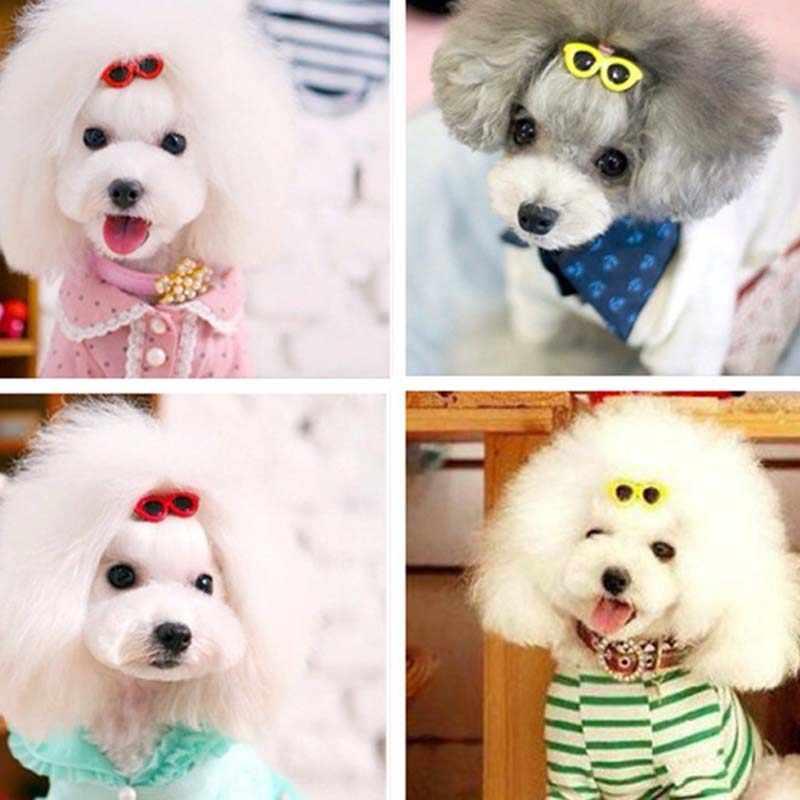 1 шт./2 шт. модные стильные аксессуары для домашних собак, бант для собак, очки-сердечки, собачья кошачья шерсть, аксессуары для домашних животных