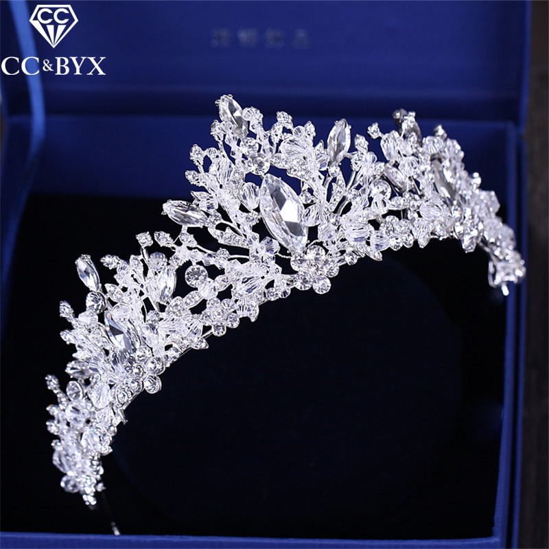 CC Tiaras And Crwons Hairbands Luxury Shine Full Crystal Stone Engagement Wedding Hair Accessories For Bride Party Jewelry XY114 ...