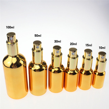 100PCS fine mist golden 100ml glass spray bottle, 100 ml bottle for essential oils ,glass perfume bottles