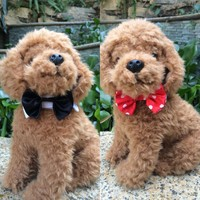 2018 Bling Crystal Dog Puppy Cat Kitten Pet Toy Bow Tie Necktie Pet Collars Necklace Cute