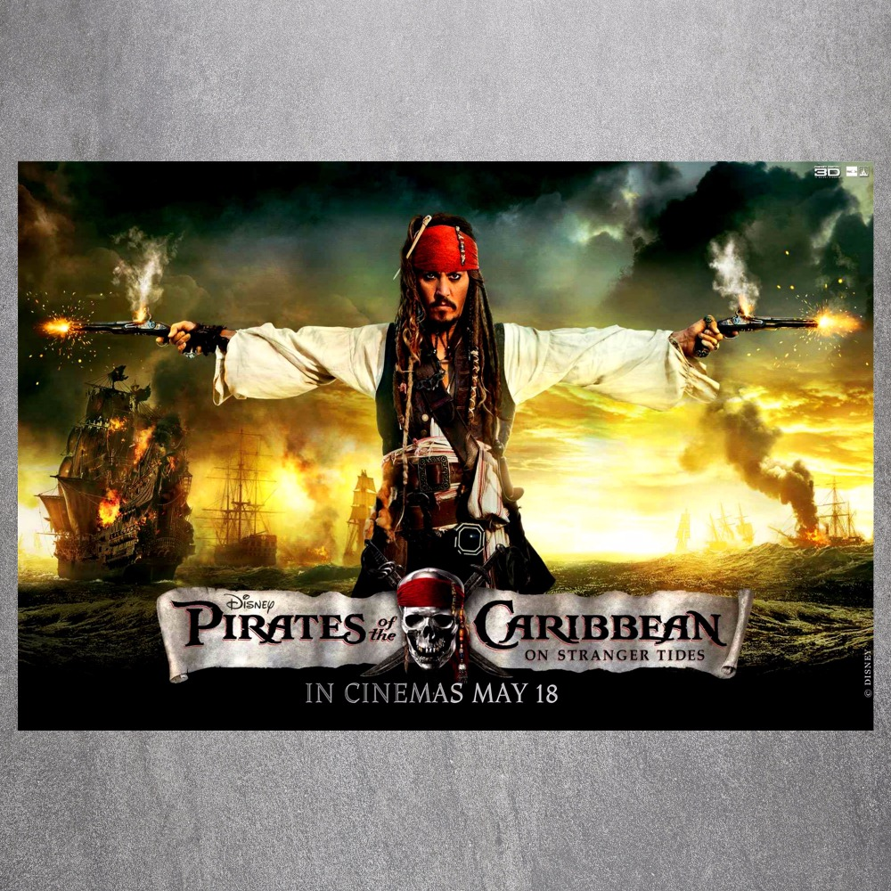 Pirates Of The Caribbean Canvas Art Print Painting Poster Wall Picture For Living Room Home Decorative Bedroom Decor No Frame-in Painting & ...